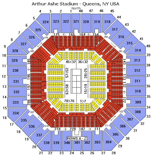 Arthur Ashe Stadium seating chart