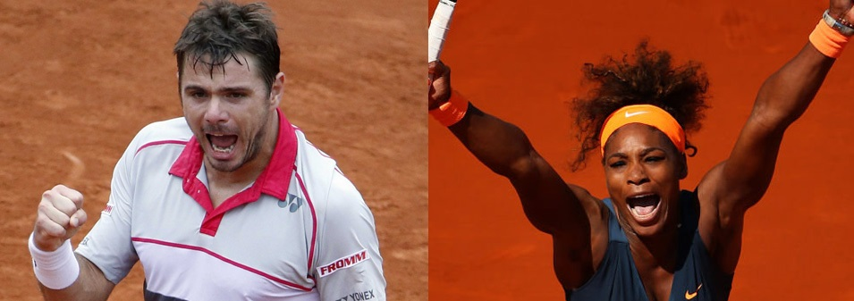 Wawrinka and Williams Take Home 2015 French Open Titles