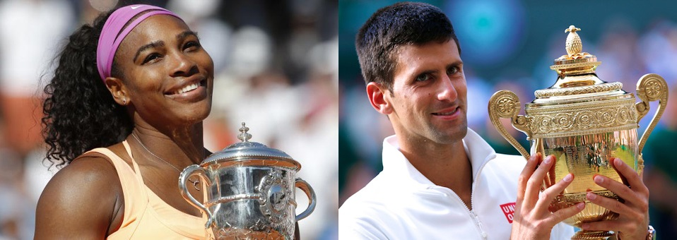 Djokovic & Williams Win 2015 Wimbledon Titles