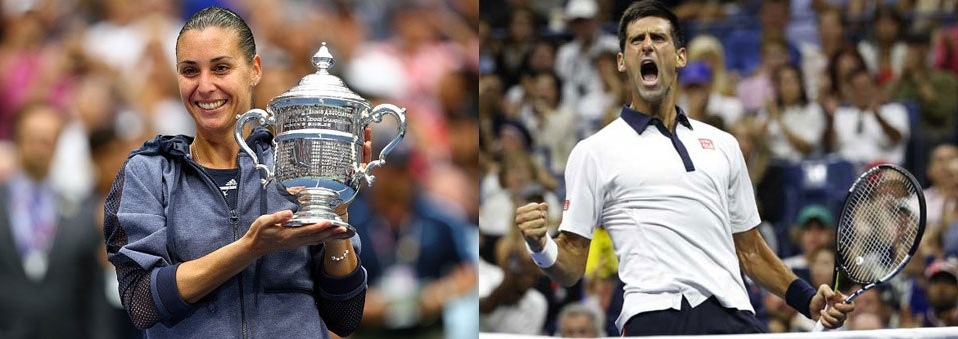 Novak Djokovic & Flavia Pennetta win 2015 US Open