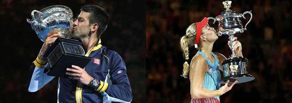 Djokovic & Kerber win 2016 Australian Open