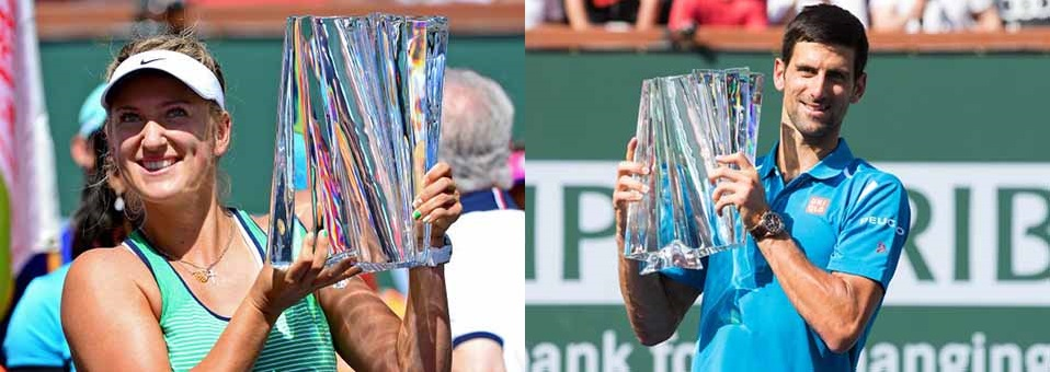 Djokovic & Azarenka win 2016 BNP Paribas Open