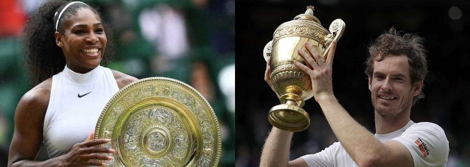 Murray, Williams Crowned Wimbledon 2016 Winners