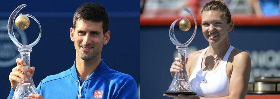 Djokovic, Halep Win 2016 Rogers Cup