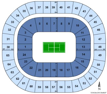 Rod Laver Arena seating chart