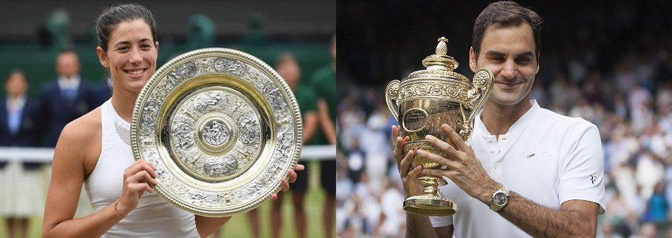 Federer, Muguruza win 2017 Wimbledon